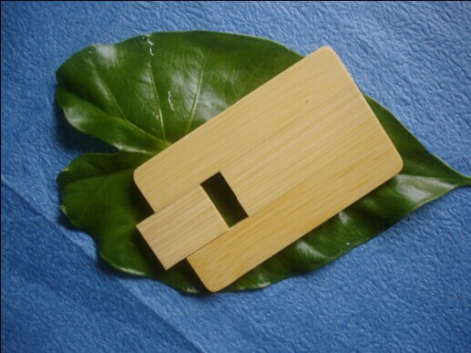 清新自然的竹子名片u盘,超薄超环保